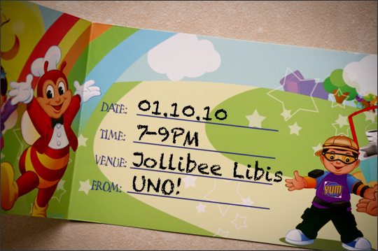 Merry Christmas And A Happy Jollibee Party Fully Articulated - Birthday invitation jollibee